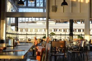 THE BAR at the end of the wharf