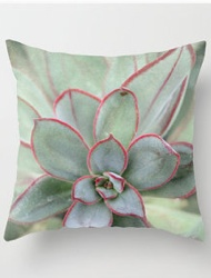 Plant Print Pillow