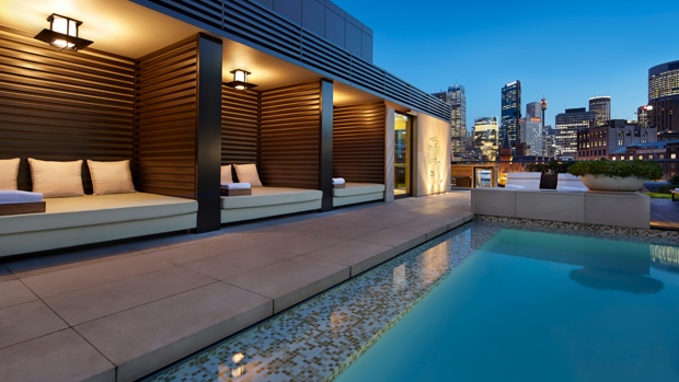 rooftop pool cabanas 1