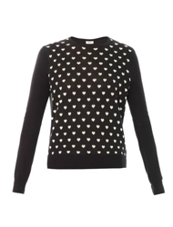 Black and White Heart Jumper