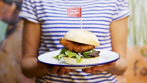 Hooked slider burger