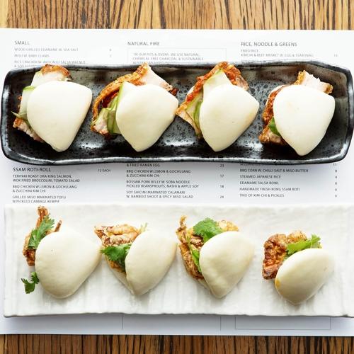 Kong_Pork Belly Bao and Soft Shell Crab Bao