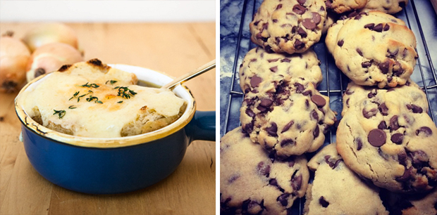 French Onion Soup & Chocolate Chip Cookies