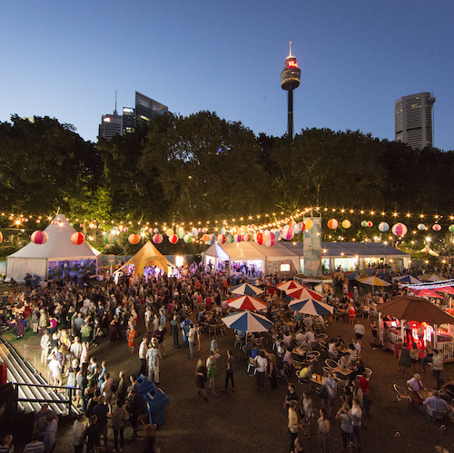 Sydney Festival's famous Festival Village is back! Image by Jamie Williams