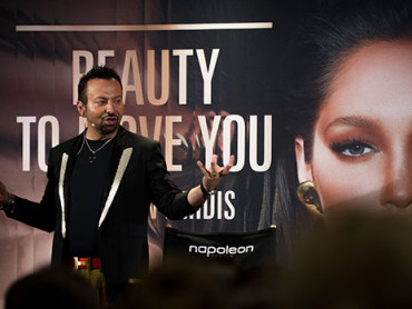 Napoleon Perdis Doing What He Does Best at his Makeup Masterclass