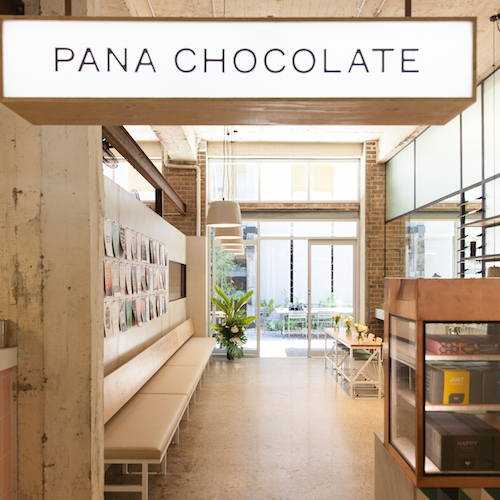 All is bright and happy inside Pana Chocolate