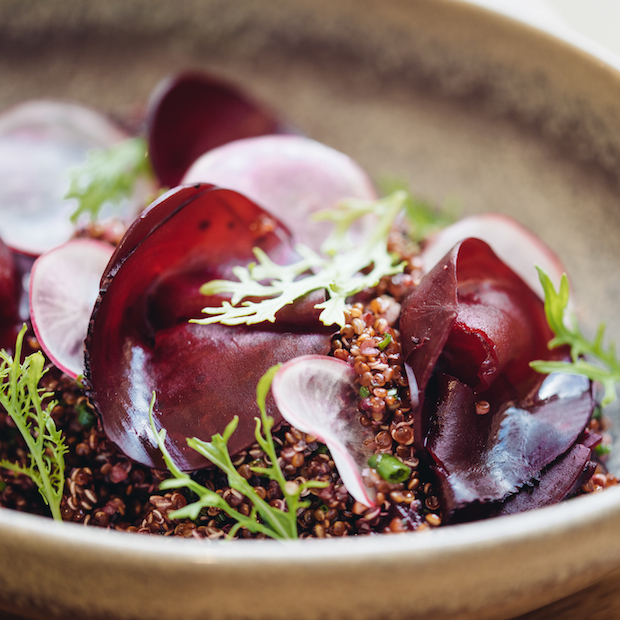 There's much more than meat –the quinoa and beetroot salad is a must try