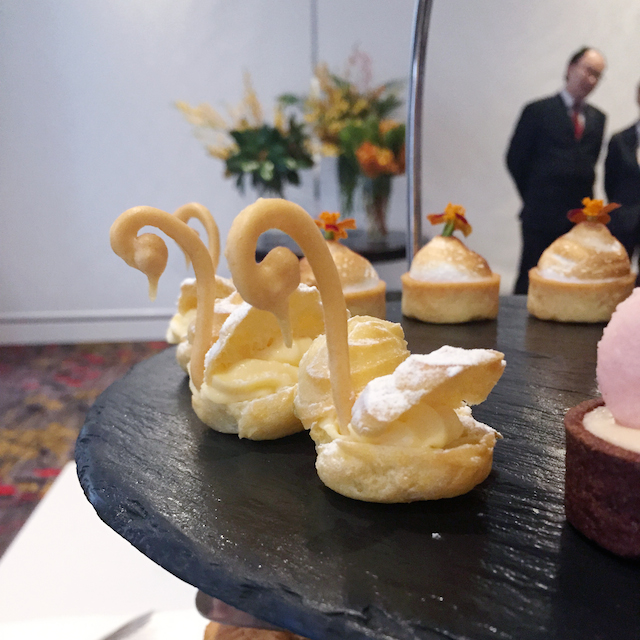 Radisson Blu's High Tea Swans are almost too cute to eat