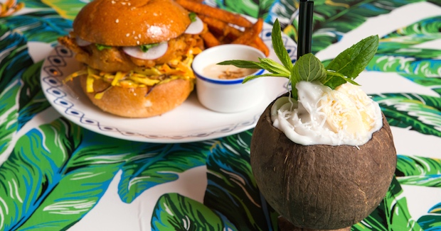 Burgers and coconut cocktails. What more could you need?