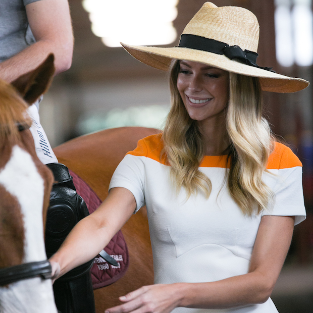 Polo player Marty Ingham with Land Rover Ambassador Jennifer Hawkins for Land Rover Polo in the City, Image credit Jack Bennett(1)