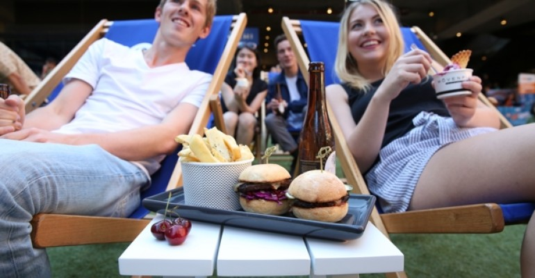 Melbourne's New QV Outdoor Cinema