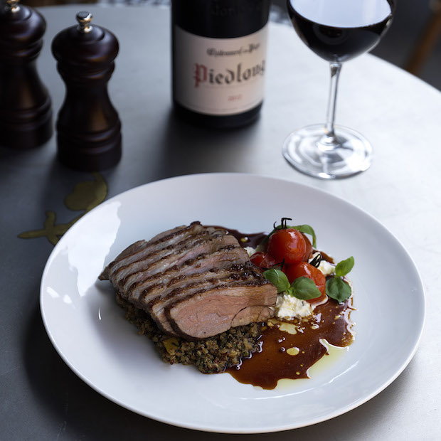 Don't miss out on the Lamb, quinoa and confit tomatoes. Image by Jason Loucas