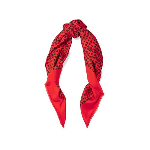 BALENCIAGA - Printed silk-twill scarf