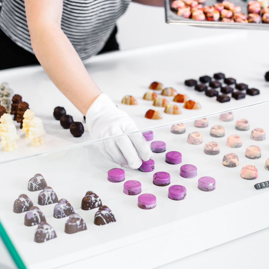Jewel-like chocolates. Image by Alana Dimou