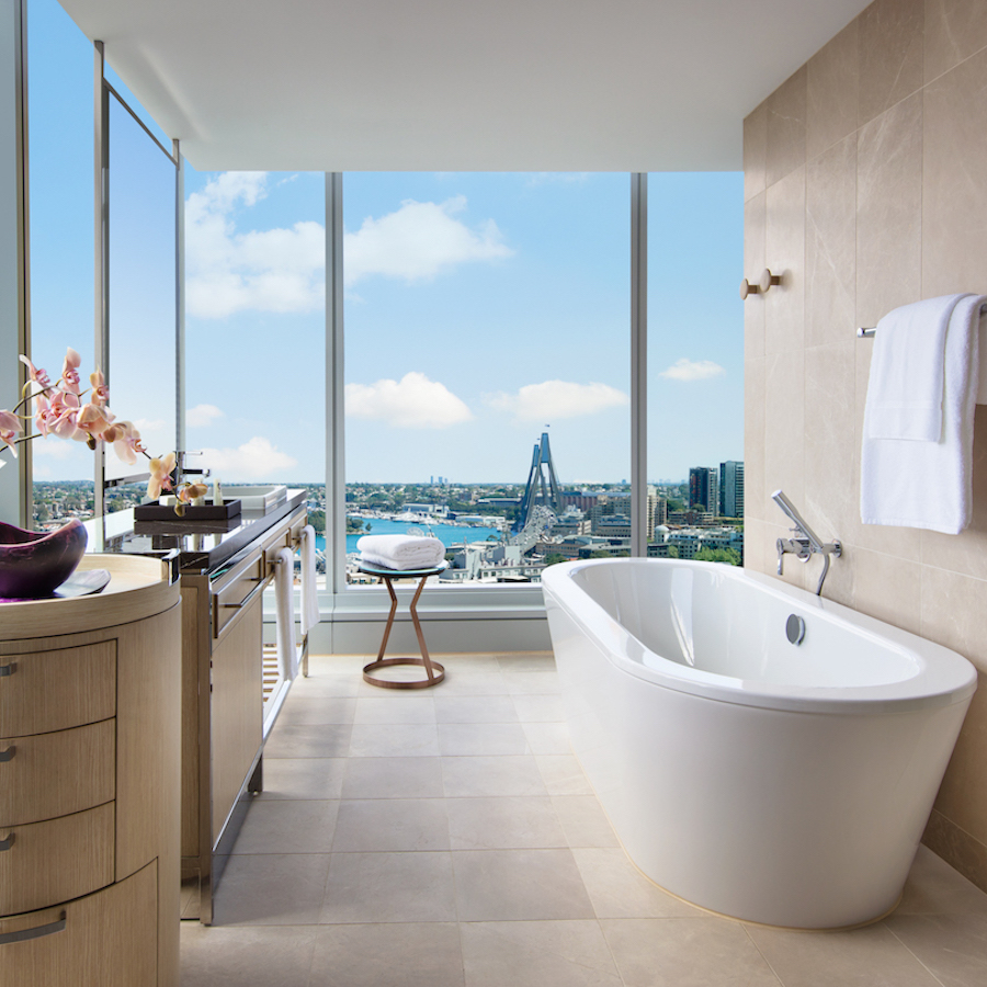 Now that's a bath with a view!
