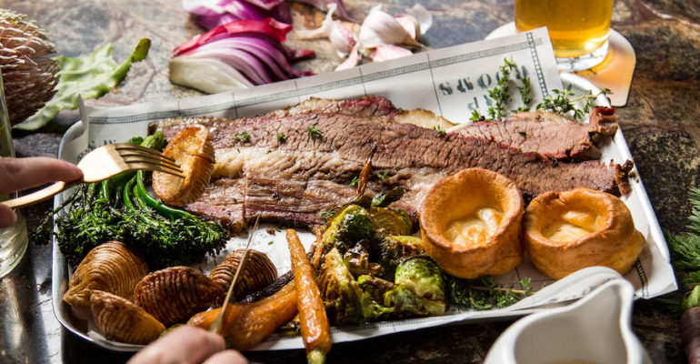 Endeavour Tap Rooms serves the Best of Britain with its winter Sunday Roast